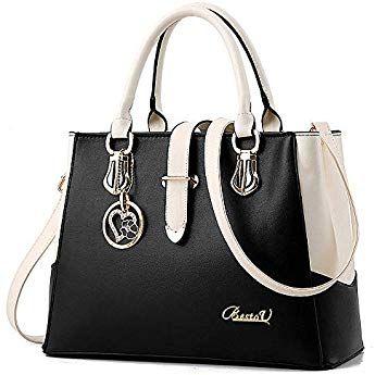 BestoU Damen Handtaschen Schwarz groß taschen Leder moderne