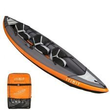 Inflatable Kayak Canoe Boat 3 Man Sit On Top Raised Seats