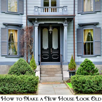 How To Make A New House Look Old House New Homes Building A New Home,What Colors Compliment Grey Eyes