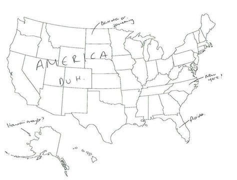 15 People In London Were Asked To Name US States On A Map ...