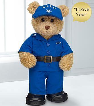 Oh my baby jesus!!! Want it.... yup lol Coast Guard Hero Bear by Build-A-Bear Workshop® - I Love You Sound