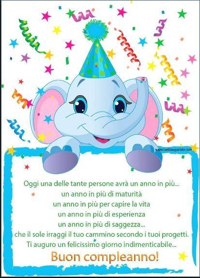 Auguri Di Buon Compleanno Bambini 1 Anno Immagini Di Buon