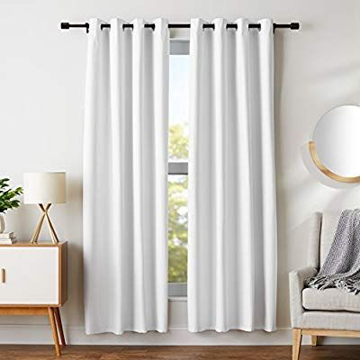 Amazon Com Amazonbasics Room Darkening Blackout Curtain Set With