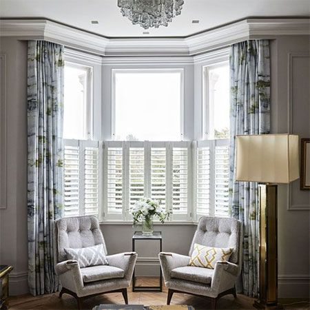 If You Have A Bay Window In Your Home You Are Probably Wondering What Is The Best Way To Dress Or Curtains Living Room Bay Window Living Room Livingroom Layout