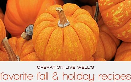Operation Live Well publishes Fall & Holiday recipe e-book full of nearly 50 pages of healthier comfort food options. #OLW