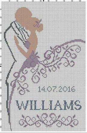 Ampersand Love Cross Stitch Pattern modern wedding cross stitch chart Ampersand with Bride and Groom Names and wedding date cross stitch