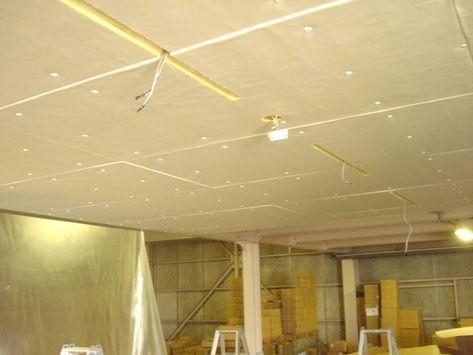 工場内天井 防音工事施工例 防音ピアリビング 天井 防音 天井
