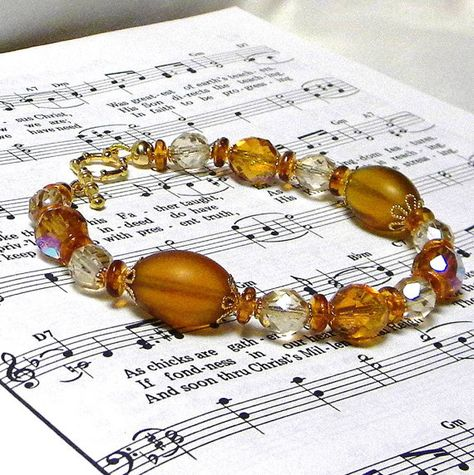 Glittery topaz topped off with champagne by marilyn1545 on etsy, $25.00