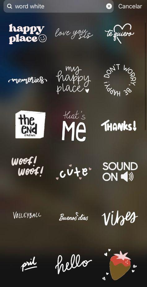 Stickers para que enchules tus stories de Instagram