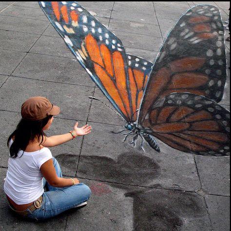 3D Chalk Art - Julian Beever