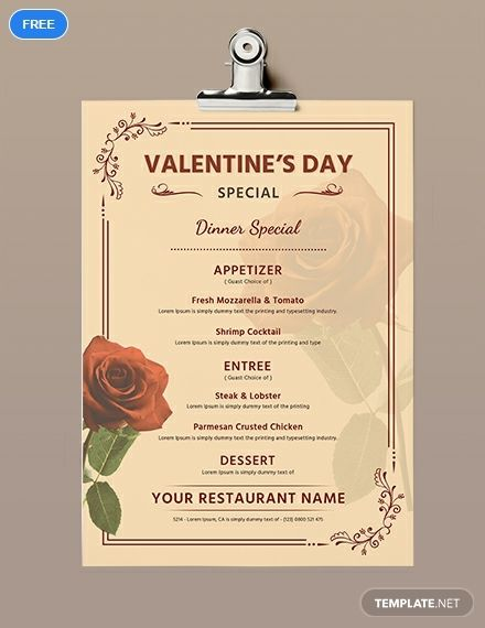 Free Editable Valentine S Day Menu Template Word Doc Psd Apple Mac Pages Publisher Outlook Menu Template Word Menu Template Printable Menu Template