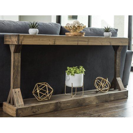 Home In 2020 Large Console Table Sofa Table Decor Table Behind