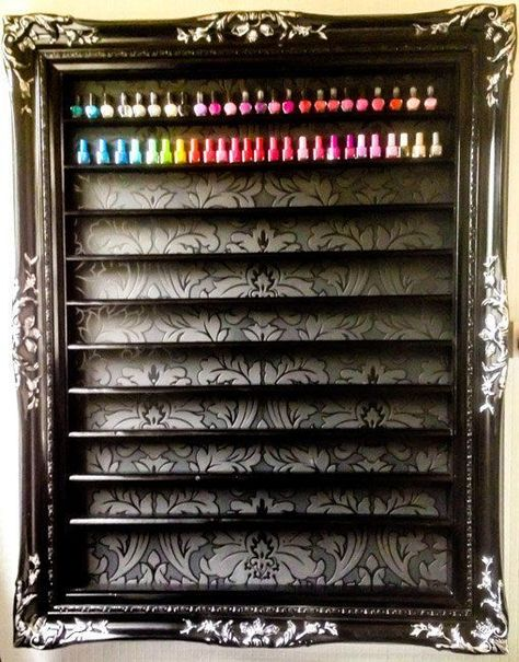 nail polish display #hangingmakeupstoragenailpolish