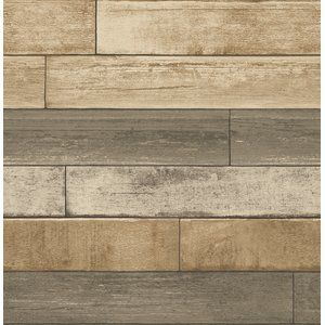 This Wood Wallpaper Is A Modern Take On An Old Classic Make For A Serene Mix Of Neutrals Perfect Wood Plank Wallpaper Wood Wallpaper Reclaimed Wood Wallpaper