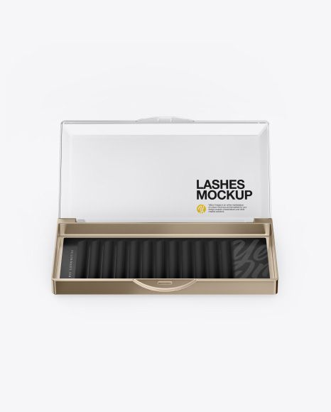 Download Opened Transparent Box With Lashes Mockup Front View In Box Mockups On Yellow Images Object Mockups Mockup Free Psd Free Mockup Transparent Box