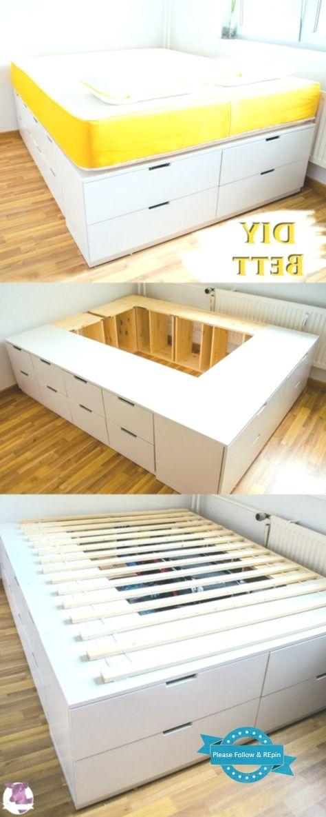 Diy Ikea Hack Stabiles Sehr Hohe Bett Mit Viel Stauraum Selber Bauen Mit Anle In 2020 Bett Selber Bauen Ikea Diy Diy Mobel Schlafzimmer