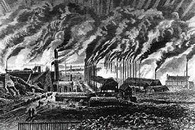 Drawing Of Air Pollution Industrial Revolution Water Pollution