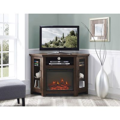 Winmoor Home Transitional 50 Fireplace Tv Stand Brown In 2020