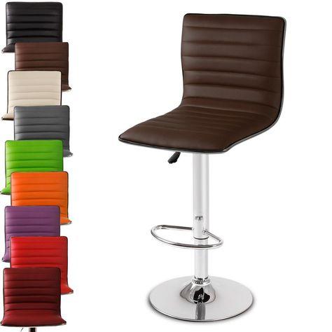 Miadomodo Adjustable Bar Stool Chairs Home Furniture Brown