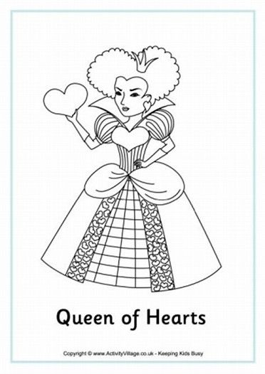Image Result For Queen Coloring Pages With Images Heart