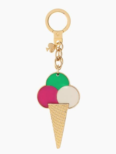 ICE CREAM CONE Key Fobs really cute keychains