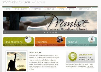 looking for the best church website designs here is a collection of 40 that will show you what is possible for your own church websites - Church Website Design Ideas
