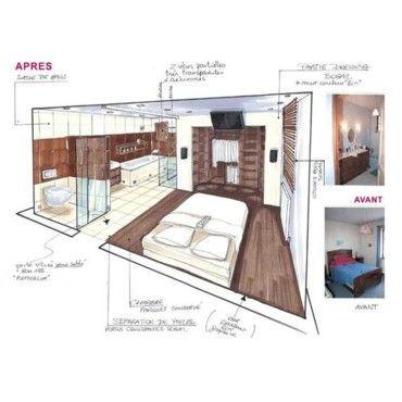 6 suites parentales aux salles de bains sublimes   Bedrooms ...