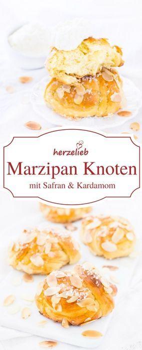 Marzipan Knoten Mit Safran Und Kardamom Rezept Lebensmittel Essen Susse Backerei Und Kochen Und Backen