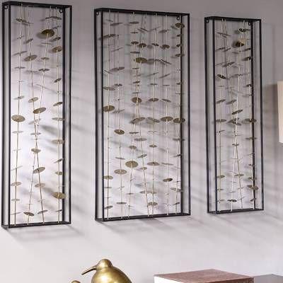 Cole Grey 3 Piece Metal Wood Wall Decor Set Reviews Wayfair