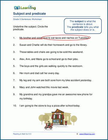 Grade 5 Grammar Worksheets K5 Learning Grammar Worksheets Reading Comprehension Worksheets 5th Grade Grammar