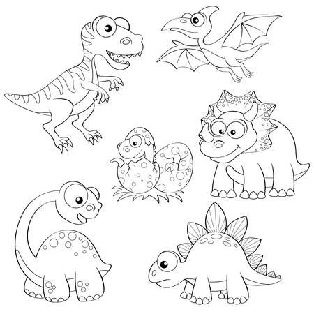 Stock Photo Imagenes De Dinosaurios Animados Dibujo De