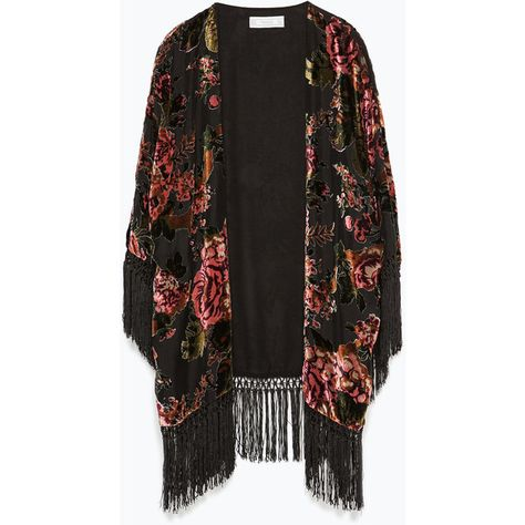 Designer Clothes, Shoes & Bags for Women Kimono Shrug, Fringe Kimono, Fringe Jacket, Cute Fashion, Unique Fashion, Boho Fashion, Fashion Outfits, Estilo Fashion, Ideias Fashion