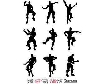 Fortnite Printable Etsy Dance Silhouette Fortnite Silhouette Printables
