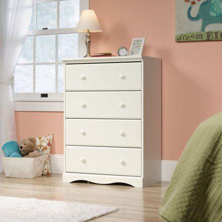 Sauder Pogo 4 Drawer Chest In Soft White Walmart Com Sauder Furniture Furniture Dressers And Chests