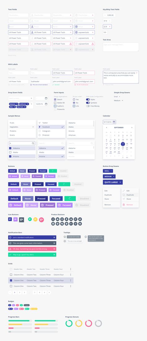 UX Power Tools - A Design System UI Kit for Sketch