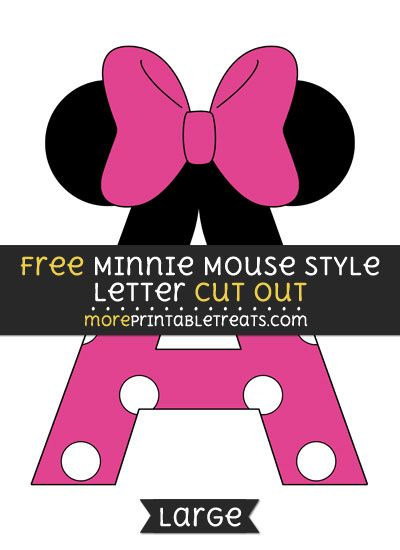 Cut Out Minnie Mouse Banner Template Printable