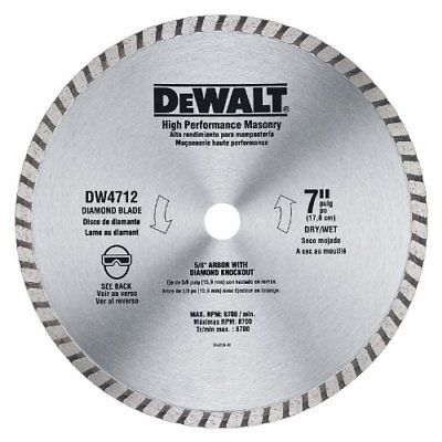 Saw Blades 122837 Dewalt Dw4712 7 Inch Dry Wet Continuous Rim Diamond Blade For Block And Brick Buy It Now On Dewalt Diamond Saw Blades Circular Saw Blades