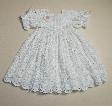 Crochet Christening / Blessing Gown Baptism by CherryHillCrochet