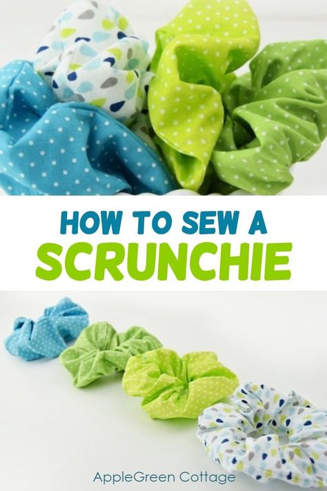 How to make a scrunchie - hair scrunchies are a quick and easy sewing project anyone can do. You don't even need a pattern to make these, and it's so much fun! Also check out more than 100 other free tutorials on this site! #diyaccessories #easyproject #diy