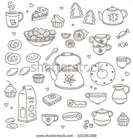 tea cup clipart black and white - Google Search   Dibujos ...