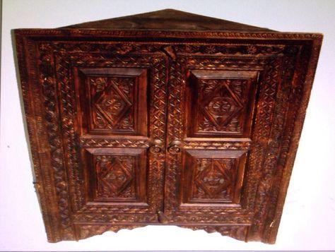 Wohnzimmerschrank antik ~ Antik look bauernschrank schrank kommode nuristan afghanistan