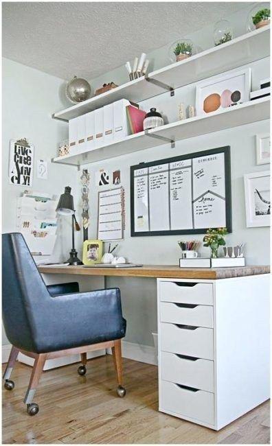 31 Diy Home Office Storage On A Budget Homiku Com Home Office Space Home Office Furniture Shared Home Offices