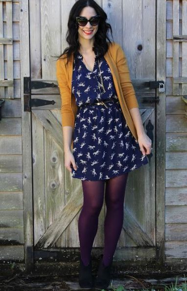 20 Ideas Dress Winter Tights Color Combos