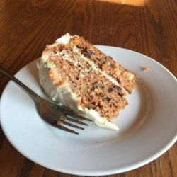 Sams Famous Carrot Cake - Allrecipes.com  I LOVE THIS RECIPE...I ADD A HEAPING TEASPOON OF CARDAMOM, FRESH GRATED NUTMEG, GRATED CITRUS ZEST OF SOME KIND TO THE ICING. #carrotcake