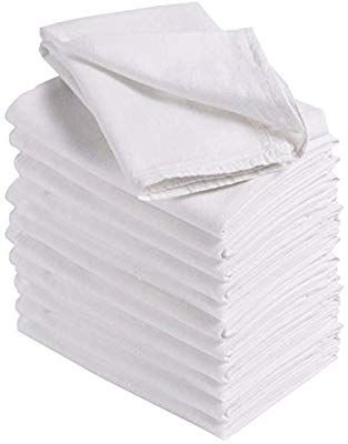 Amazon Com Homelabels Kitchen 12 Pack Flour Sack Towels 100