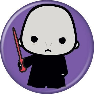 Harry Potter Voldemort Animated Style Character Pin Button - Purple