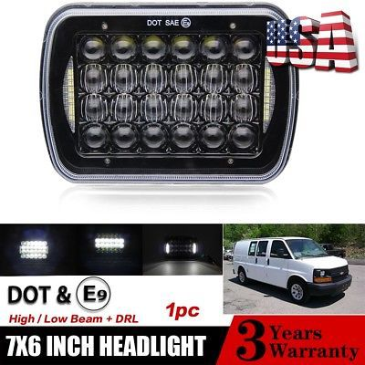 7x6 5x7 85w Led Headlight Hi Lo Drl For Chevy Express Cargo Van