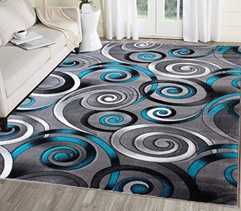 Best Seller Masada Rugs Turquoise Grey Modern Contemporary Woven Area Rug Hand Carved 8 Feet X 10 Feet Turquoise Online Topbrandshits In 2020 Area Rugs Turquoise Rug Rugs