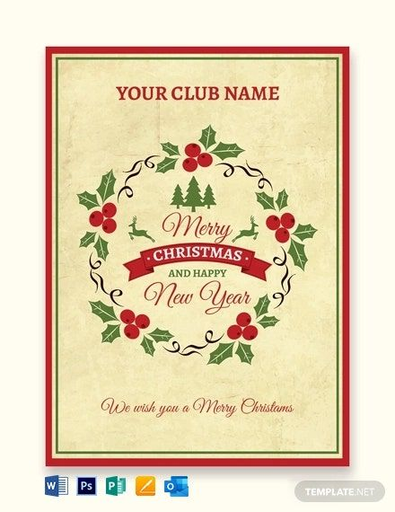 Simple Christmas Greeting Card Template Word Outlook Apple Pages Psd Publisher Template Net Christmas Greeting Card Template Simple Christmas Greetings Christmas Card Template