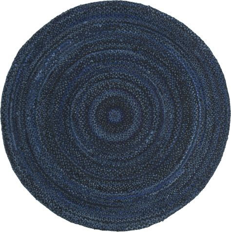 Navy Blue Braided Rug At Home In